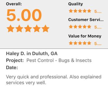 Pest Control Dawsonville ga